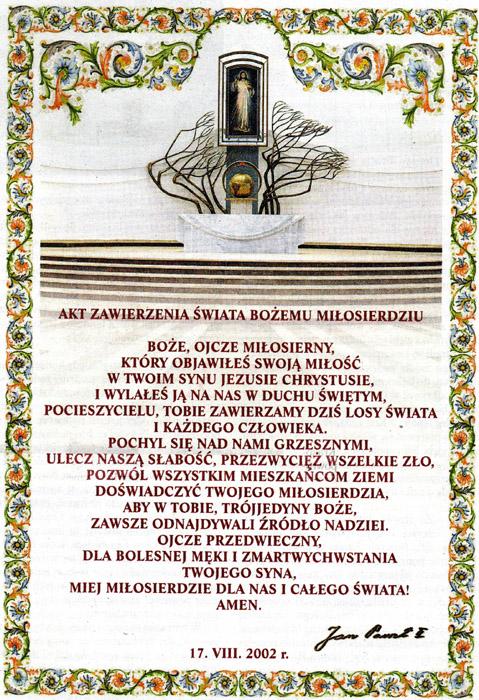 Jan Paweł Ii Kult Miłosierdzia